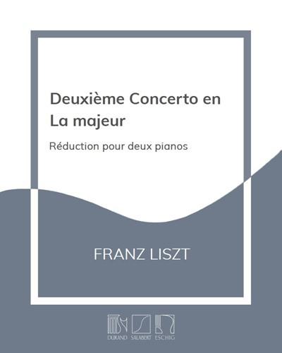 Deuxième Concerto en La majeur - Réduction pour deux pianos