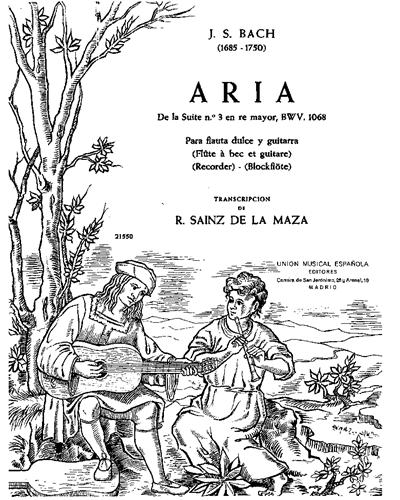 """Aria (de la """"Suite No. 3 en Re Mayor"""") BWV 1068"""