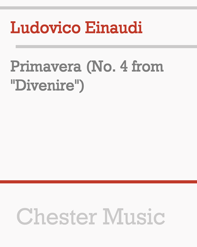 "Primavera (No. 4 from ""Divenire"")"