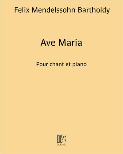 Ave Maria pour chant et piano