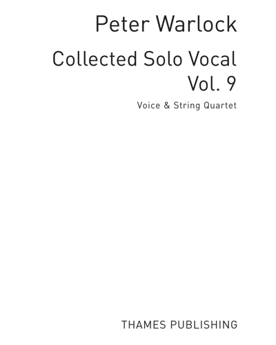 Collected Solo Vocal, Vol. 9