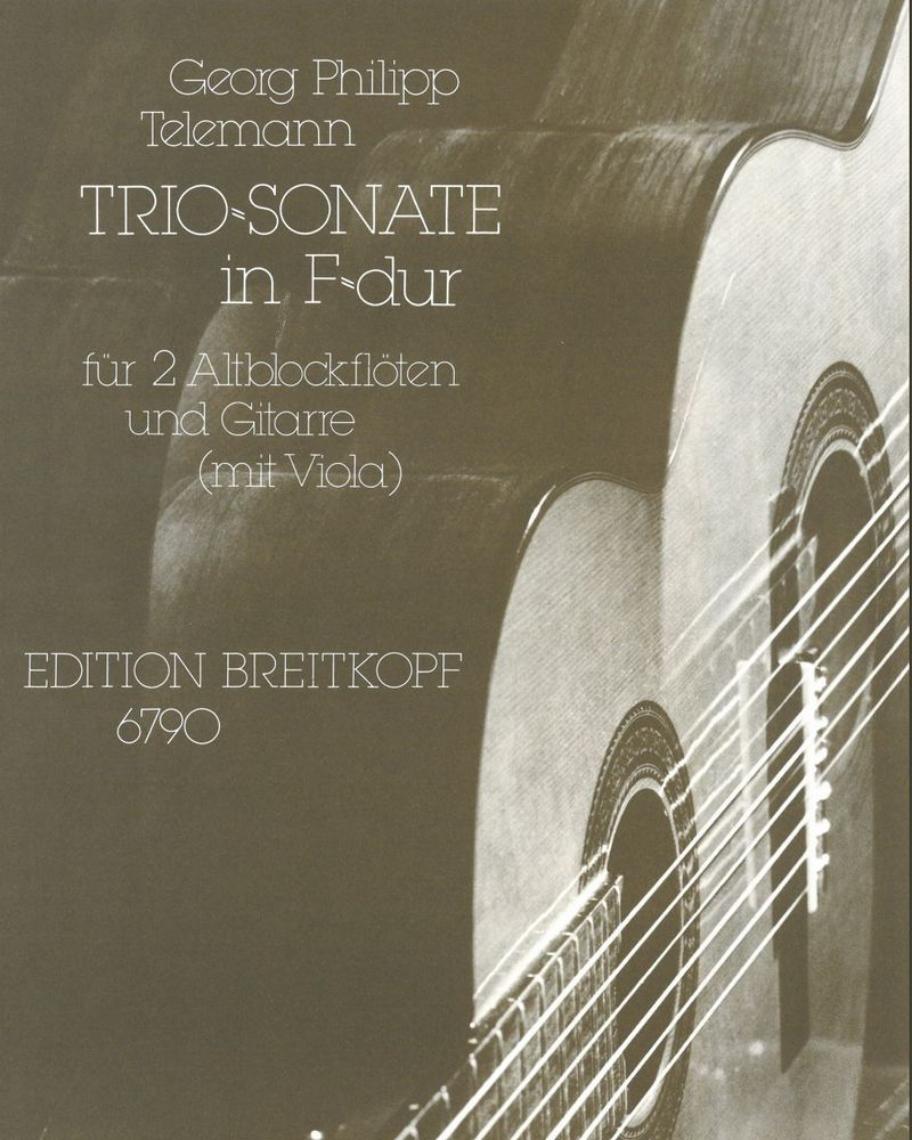 Triosonate F-dur - Ausgabe für zwei Altblockflöten und Gitarre