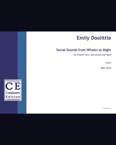 Social Sounds from Whales at Night (English horn version)