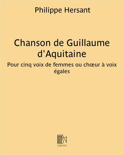 Chanson de Guillaume d'Aquitaine