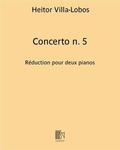 Concerto n. 5 - Réduction pour deux pianos