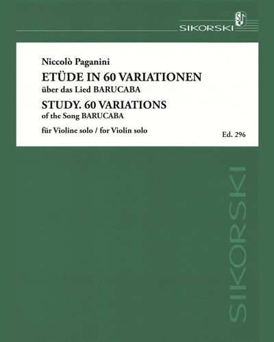 """Etude in 60 Variations on the Song """"Barucabà"""""""