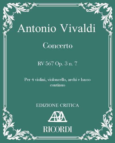 Concerto RV 567 Op. 3 n. 7