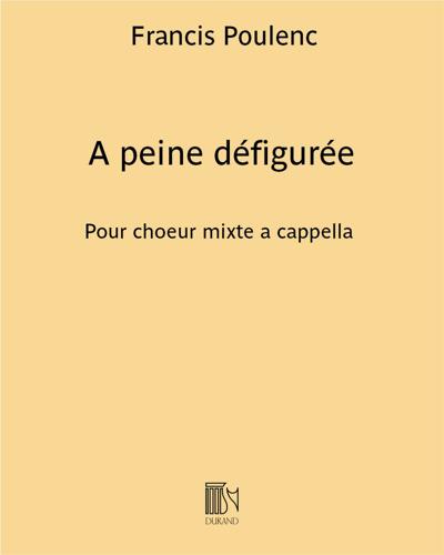"""A Peine Défigurée (extrait n. 2 de """"Sept Chansons"""")"""