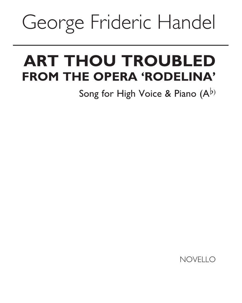 Art thou troubled? (in A-flat)