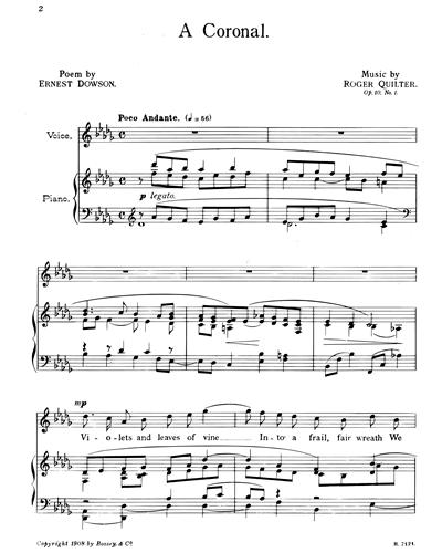 Roger Quilter Songs Of Sorrow Sheet Music Nkoda
