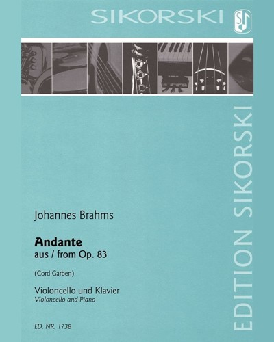 Andante (after Piano Concerto No. 2 in B-flat major, op. 83)