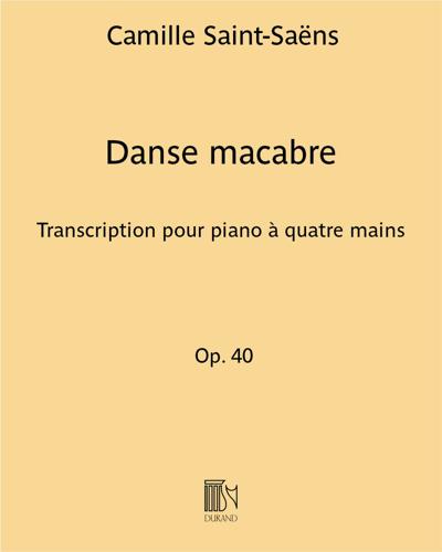 Danse macabre - Transcription pour piano à quatre mains