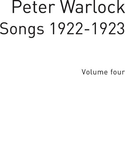 Songs 1922-1923 Vol. 4
