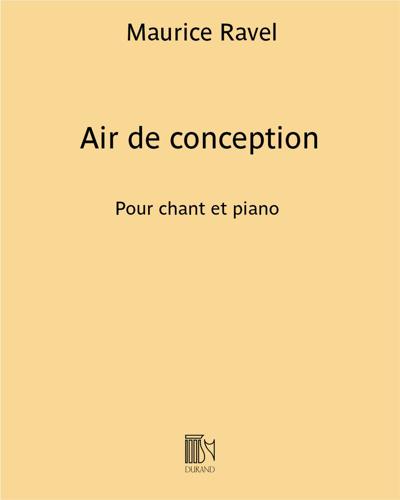 """Air de conception (extrait n. 2 de """"L'heure Espagnole"""")"""