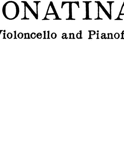 Sonatina for Cello & Piano