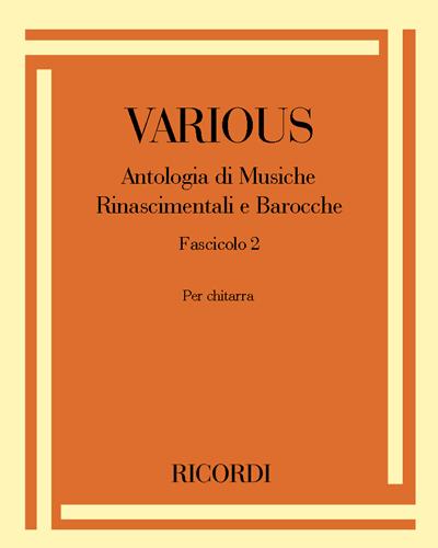 Antologia di Musiche Rinascimentali e Barocche Fascicolo 2
