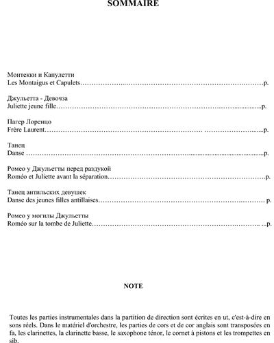 Roméo Et Juliette Suite No. 2