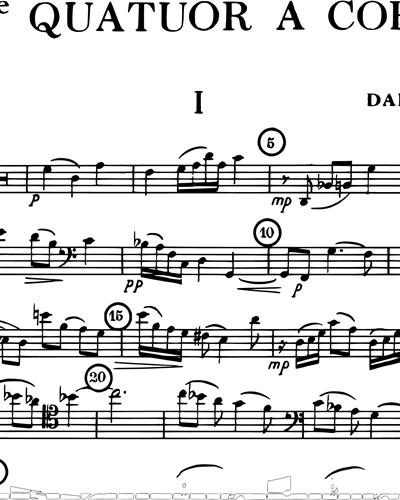 Quatuor à Cordes No. 14, Op. 291