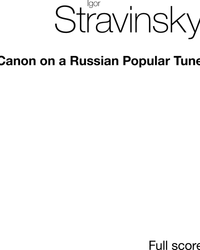 Canon on a Russian Popular Tune