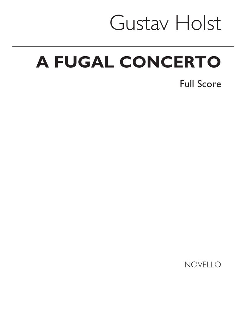 A Fugal Concerto, Op. 40 No. 2