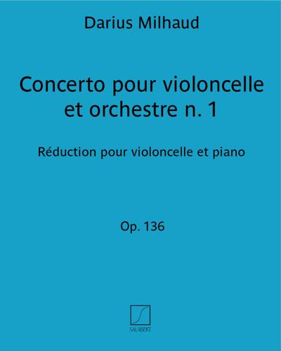 Concerto pour violoncelle et orchestre Op. 136, n. 1