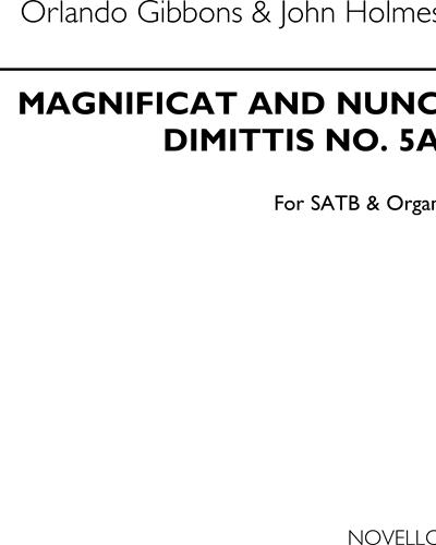 Magnificat and Nunc Dimittis No. 5a
