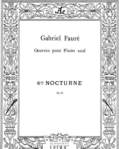 Nocturne No. 6 Op. 63