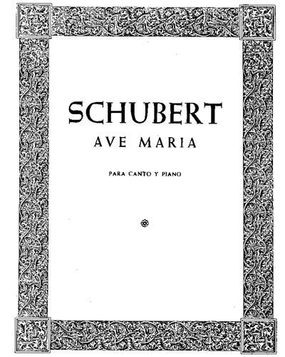 Ave Maria (en castellano y latin)