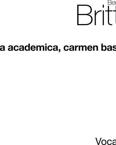 Cantata Academica, op. 62