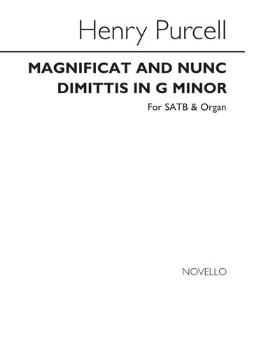 Magnificat and Nunc Dimittis in G minor