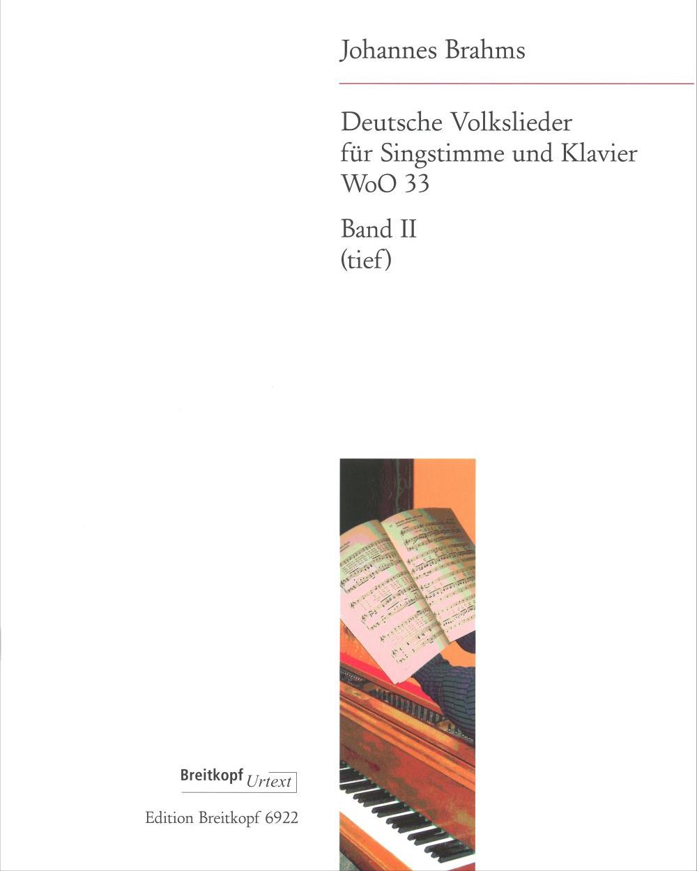 Deutsche Volkslieder WoO 33 - Bd. II: Nr. 22 - 42 (Ausgabe für tiefe Stimme und Klavier)