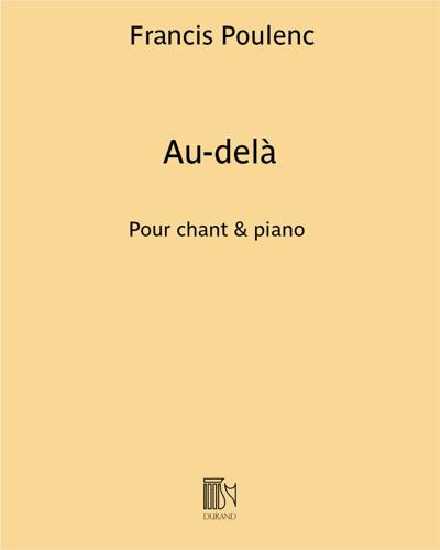 """Au-Delà (extrait n. 2 de """"Trois Poèmes"""" de Louise de Vilmorin)"""