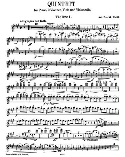 Piano Quintet in A, op. 81