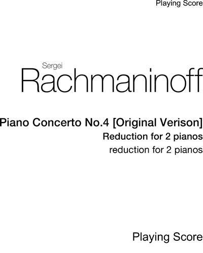Piano Concerto No. 4 [Original Version]