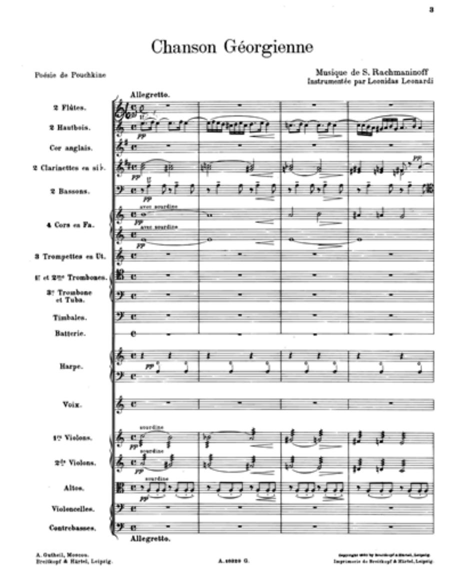 Chanson Géorgienne, op. 4/4