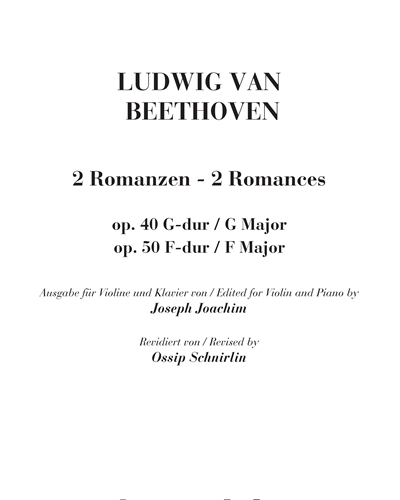 2 Romances Op. 40 & Op. 50