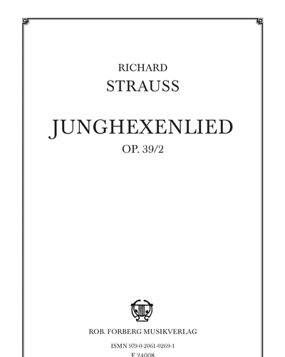 Junghexenlied Op. 39/2