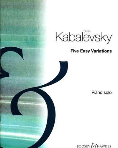 Five Easy Variations for Piano, op. 51