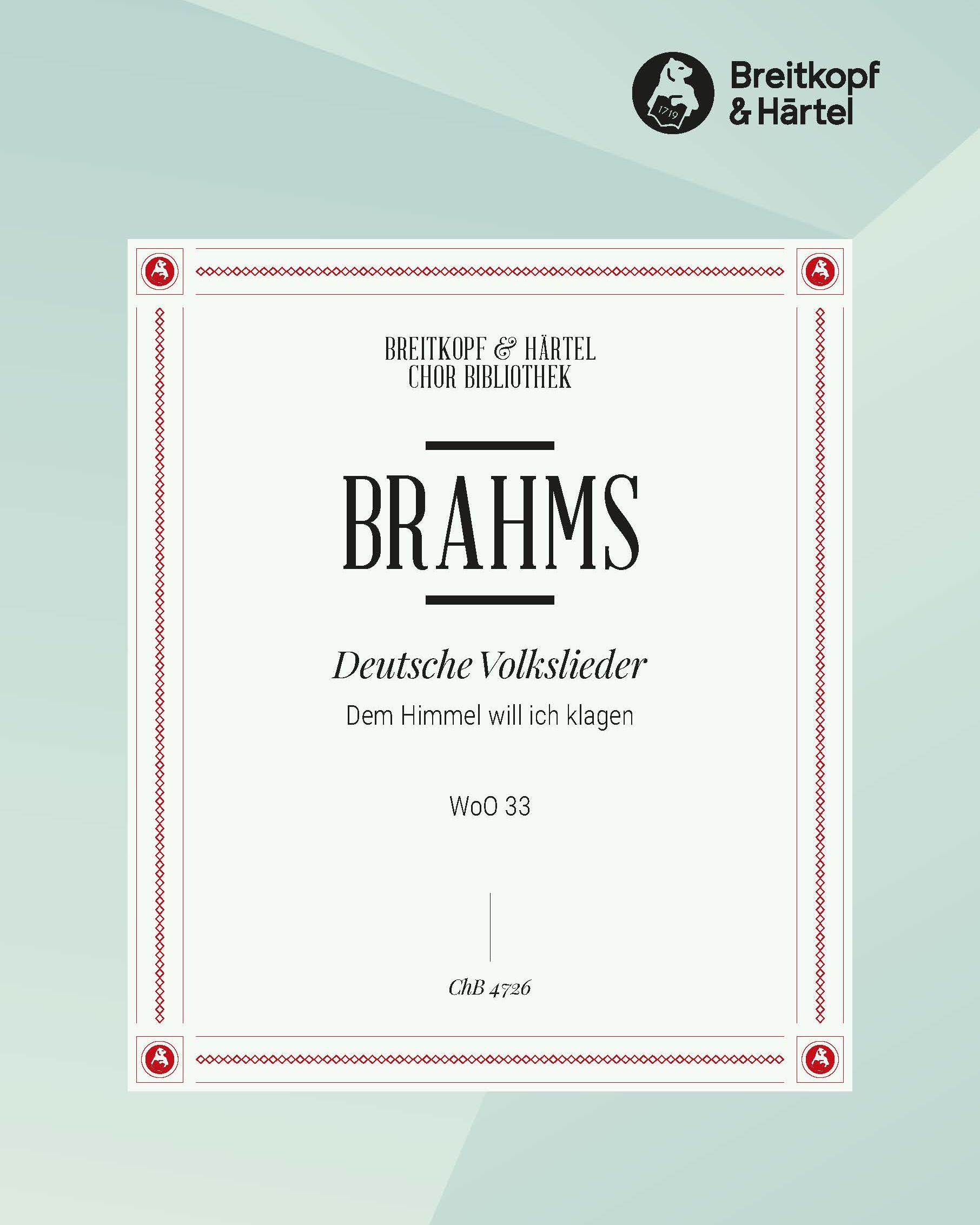 Deutsche Volkslieder WoO 33 - Nr. 44