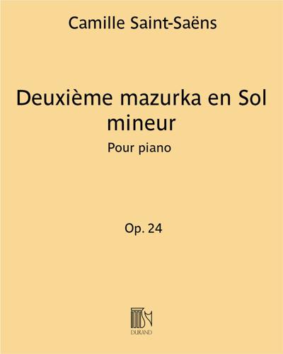 Deuxième mazurka en Sol mineur Op. 24