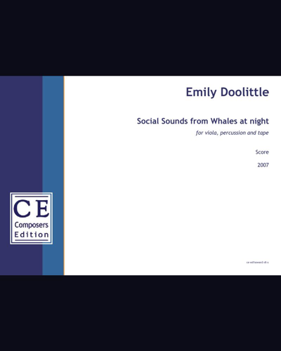 Social Sounds from Whales at night (viola version)