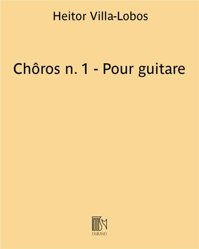 Chôros n. 1 - Pour guitare