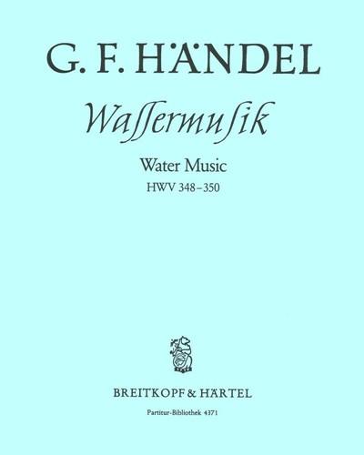 Wassermusik F-dur HWV 348-350