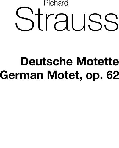 Deutsche Motette, op. 62