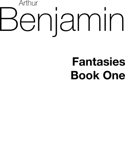 Fantasies for Piano Solo, Vol. 1