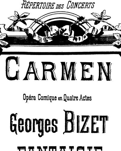 Carmen Fantaisie Pour Piano