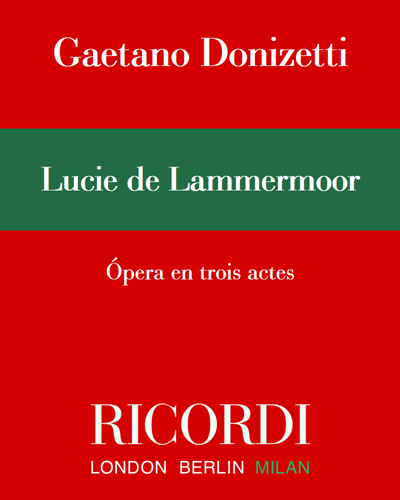Lucie de Lammermoor - Vers. Francese