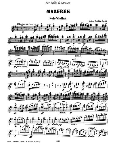 Mazurka (E minor), op. 49