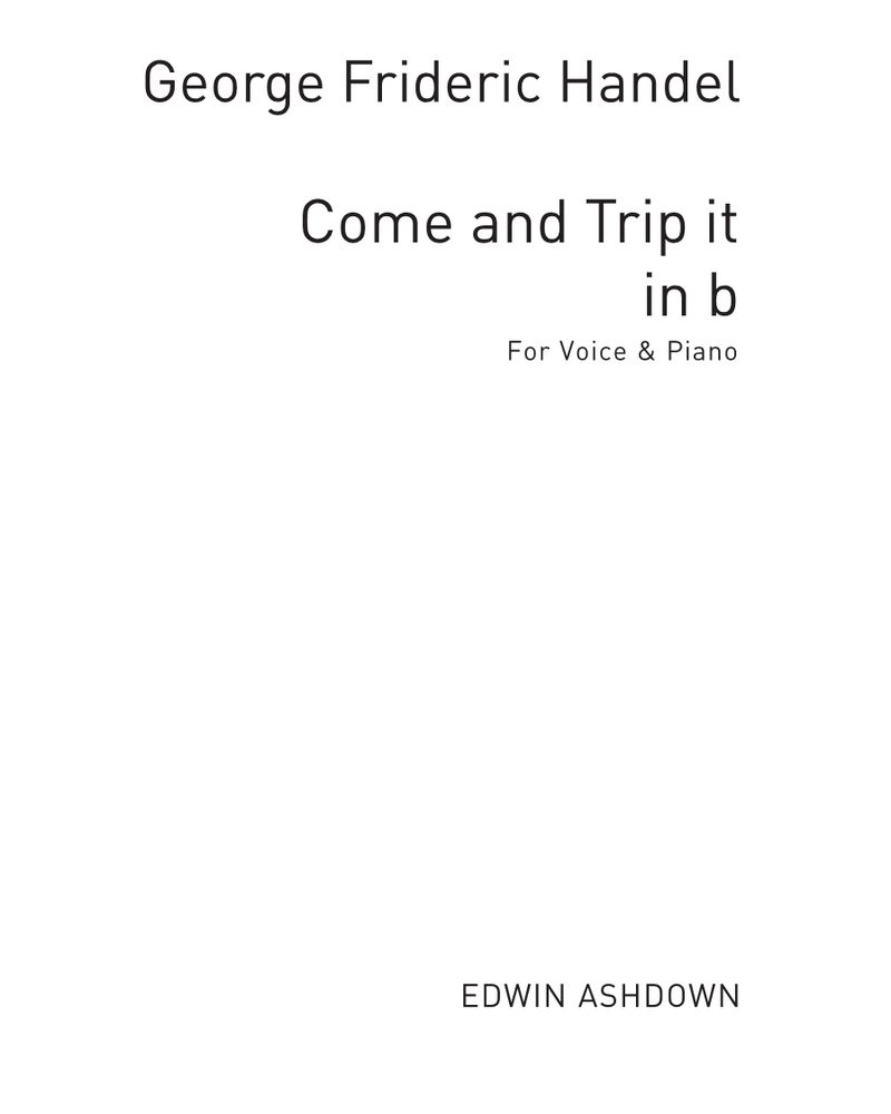 Come and Trip it (in B minor)