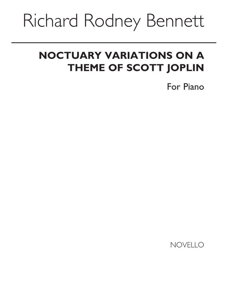 Noctuary: Variations on a theme of Scott Joplin